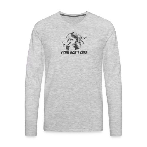 Vector Goat Farm Animal white - Men's Premium Long Sleeve T-Shirt