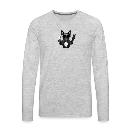 Party dog drinking champagne - Men's Premium Long Sleeve T-Shirt