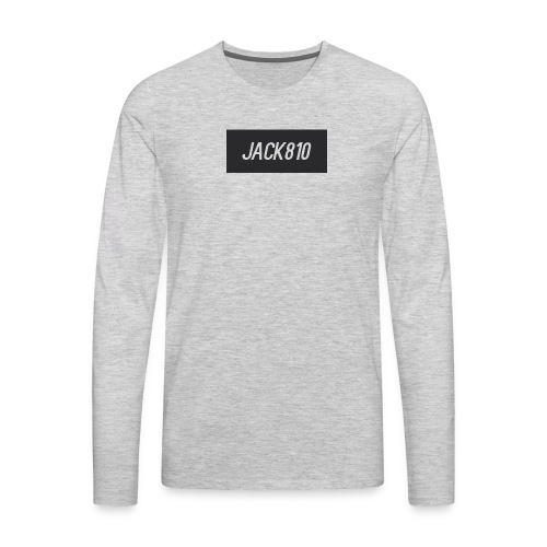 Jack810 logo - Men's Premium Long Sleeve T-Shirt