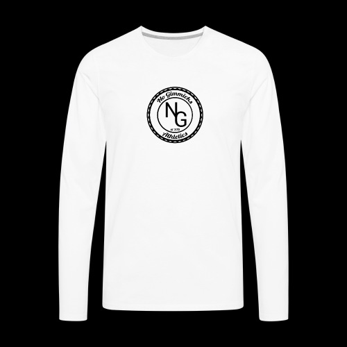 no gimmicks logo svart - Men's Premium Long Sleeve T-Shirt