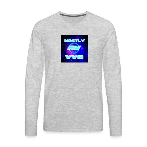 mostly wwe! space logo - Men's Premium Long Sleeve T-Shirt