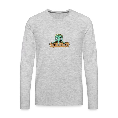 Troll House Games Cartoon Logo - Men's Premium Long Sleeve T-Shirt