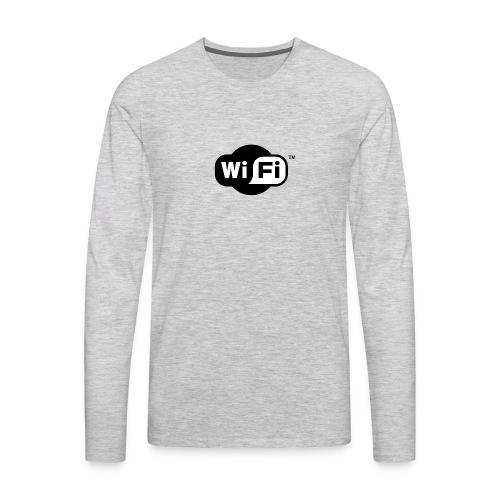 WiFi Logo svg - Men's Premium Long Sleeve T-Shirt