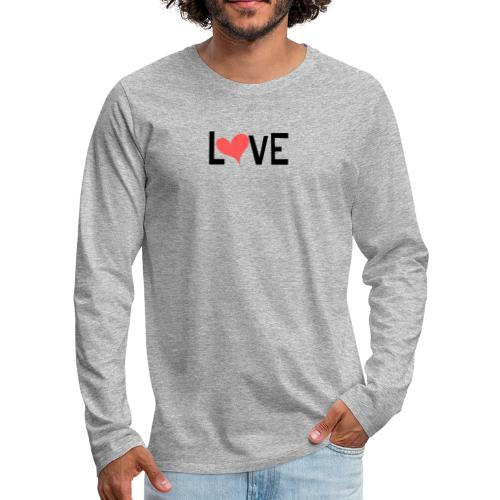 LOVE heart - Men's Premium Long Sleeve T-Shirt