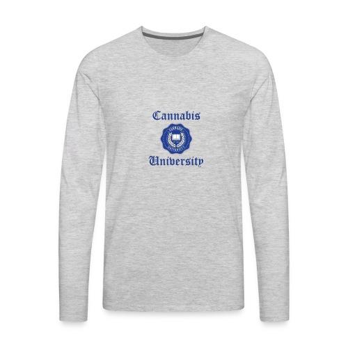 Cannabis University Text - Men's Premium Long Sleeve T-Shirt