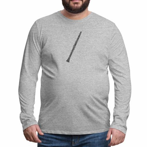 Clarinet Boehm Design - Men's Premium Long Sleeve T-Shirt