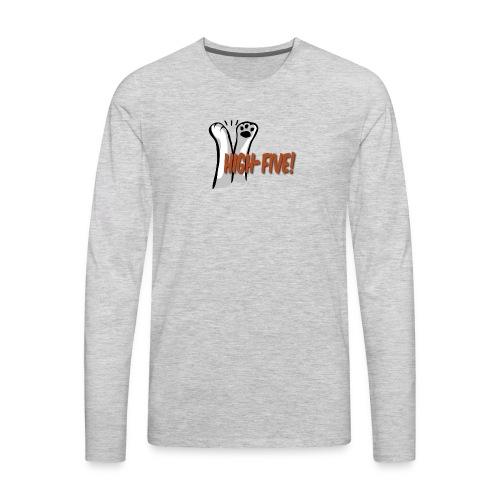 hi5 paws - Men's Premium Long Sleeve T-Shirt