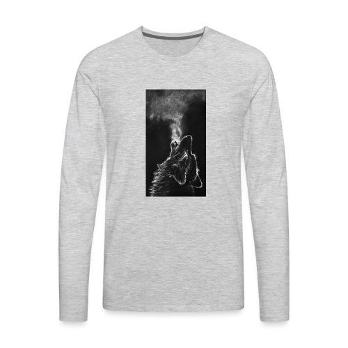 Wolf howl - Men's Premium Long Sleeve T-Shirt