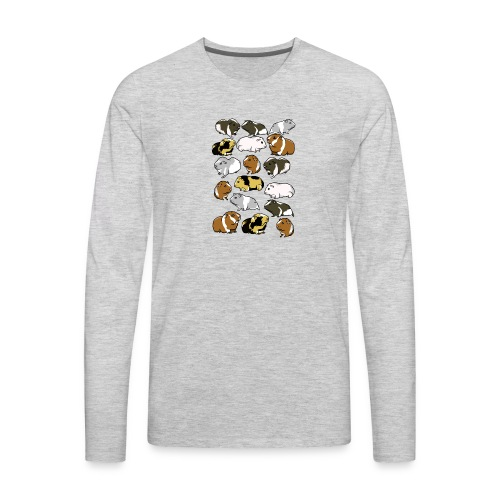 Cartoon guinea pig pattern - Men's Premium Long Sleeve T-Shirt