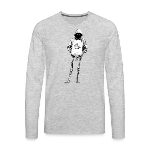 Halloween Hoodie Skeleton Bones Bat Wings - Men's Premium Long Sleeve T-Shirt