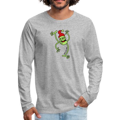 Merry Christmas Frog - Men's Premium Long Sleeve T-Shirt
