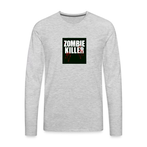 zombie killer shirt green - Men's Premium Long Sleeve T-Shirt