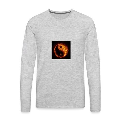 Panda fire circle - Men's Premium Long Sleeve T-Shirt