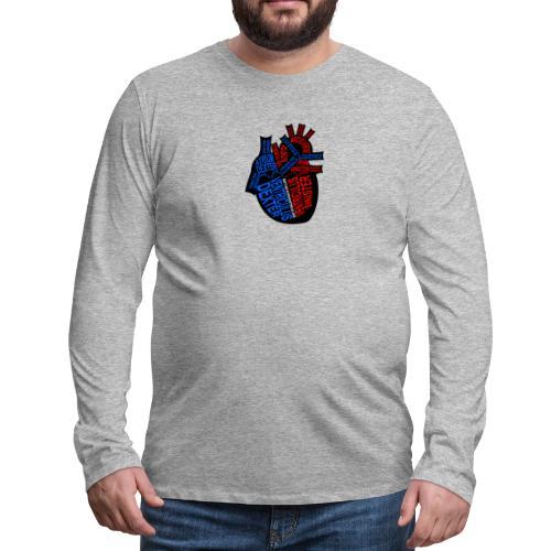 Skeleton Heart - Men's Premium Long Sleeve T-Shirt