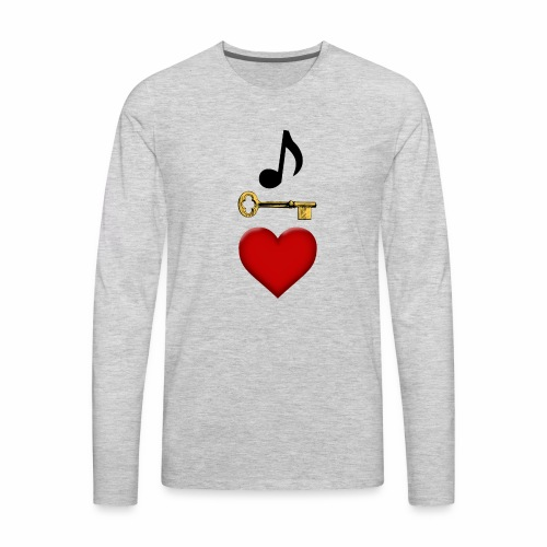 Music is Key to My Heart - Men's Premium Long Sleeve T-Shirt