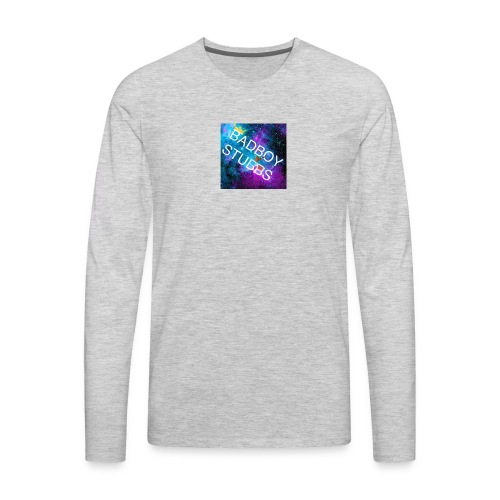 Buttons and Badges - Men's Premium Long Sleeve T-Shirt
