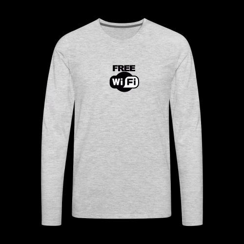 FREE WIFI - Men's Premium Long Sleeve T-Shirt