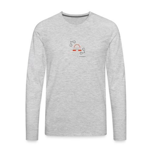 Crazyjoegrover logo - Men's Premium Long Sleeve T-Shirt