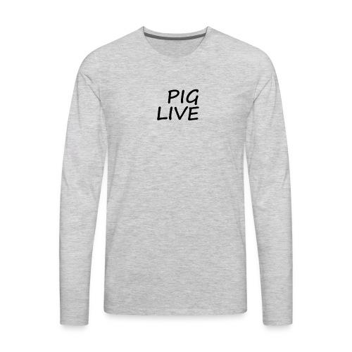 PIG LIVE NEW MERCH DESIGN - Men's Premium Long Sleeve T-Shirt