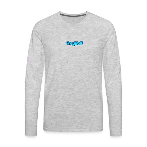TEXT of GreyWolf - Men's Premium Long Sleeve T-Shirt