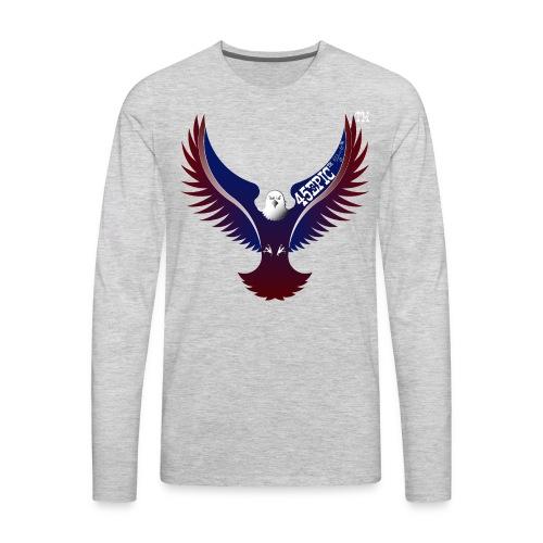 45EPIC EAGLE dx4/dt=ic Elliot McGucken Fine Art TM - Men's Premium Long Sleeve T-Shirt