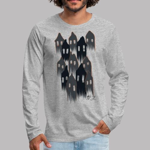 Spooky House Ghosts - Men's Premium Long Sleeve T-Shirt