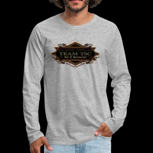 teamTSC badge03 Bar - Men's Premium Long Sleeve T-Shirt