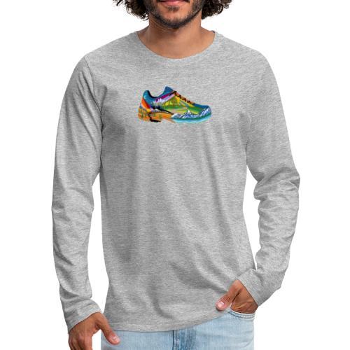 American Hiking x THRU Designs Apparel - Men's Premium Long Sleeve T-Shirt