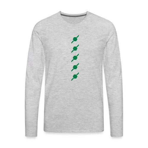 fivehex vector - Men's Premium Long Sleeve T-Shirt