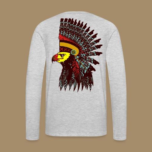 Tribal Eagle Totem with Headdress - Men's Premium Long Sleeve T-Shirt