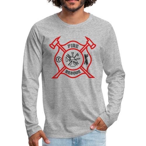 Fire Rescue - Men's Premium Long Sleeve T-Shirt