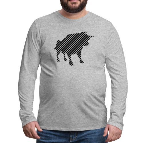 bulgebull_animal - Men's Premium Long Sleeve T-Shirt