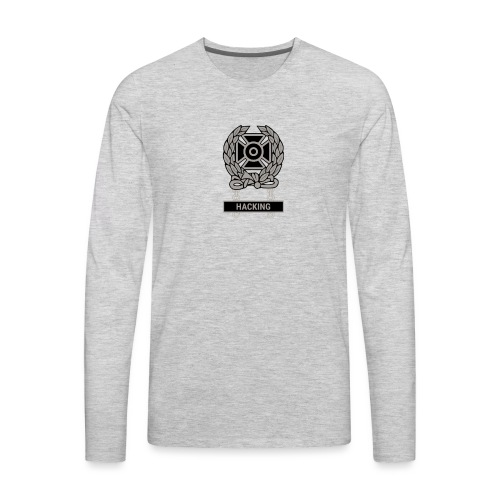 Expert Hacker Qualification Badge - Men's Premium Long Sleeve T-Shirt