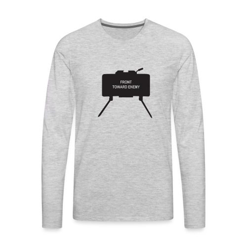 Claymore Mine (Minimalist/Dark) - Men's Premium Long Sleeve T-Shirt