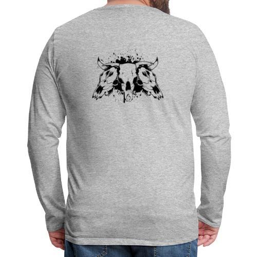 skull bull 3 - Men's Premium Long Sleeve T-Shirt