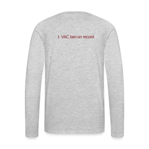 1 VAC BAN ON RECORD - Men's Premium Long Sleeve T-Shirt