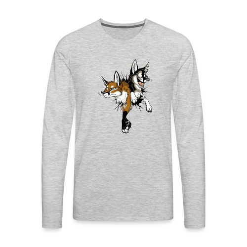 STUCK Foxes (double-sided) - Men's Premium Long Sleeve T-Shirt