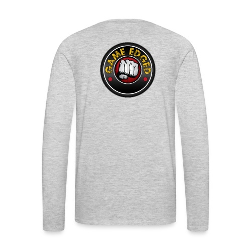 Men's Game Edged Logo Tshirt with So Be It On the - Men's Premium Long Sleeve T-Shirt