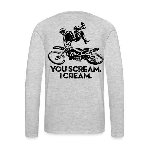 FMX Dirtbike Scream Cream - Men's Premium Long Sleeve T-Shirt