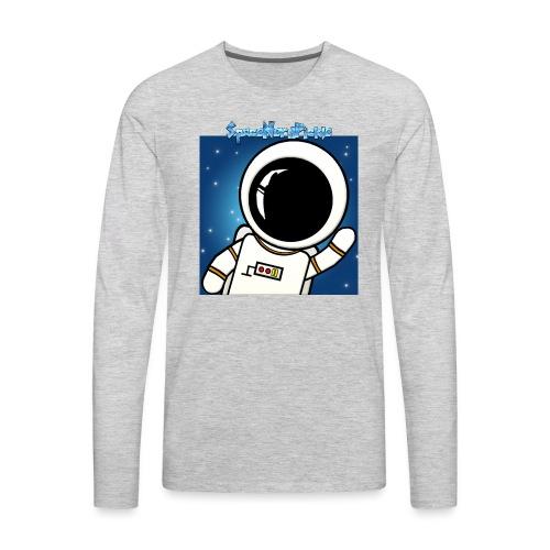 Cool Text SpaceNerdPickle - Men's Premium Long Sleeve T-Shirt