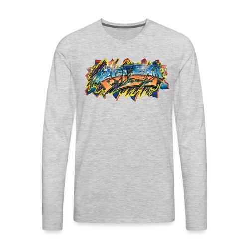 RSB Mural T shirt w/ Black RSB Logo - Men's Premium Long Sleeve T-Shirt