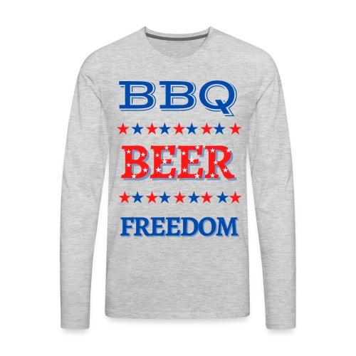 BBQ BEER FREEDOM - Men's Premium Long Sleeve T-Shirt