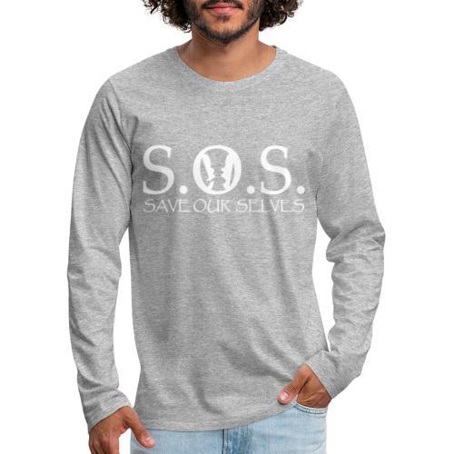 SOS WHITE4 - Men's Premium Long Sleeve T-Shirt