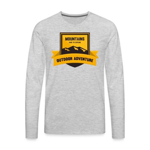 Mountains Dare to explore T-shirt - Men's Premium Long Sleeve T-Shirt