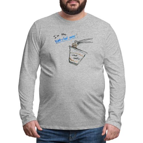 Best Chef Ever   Ramen Noodle   Minimal Hand Drawn - Men's Premium Long Sleeve T-Shirt