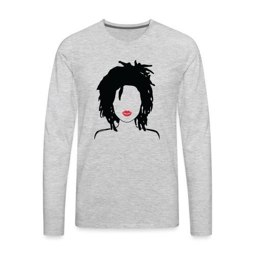 Locs & Lipstick_Global Couture Women's T-Shirts - Men's Premium Long Sleeve T-Shirt