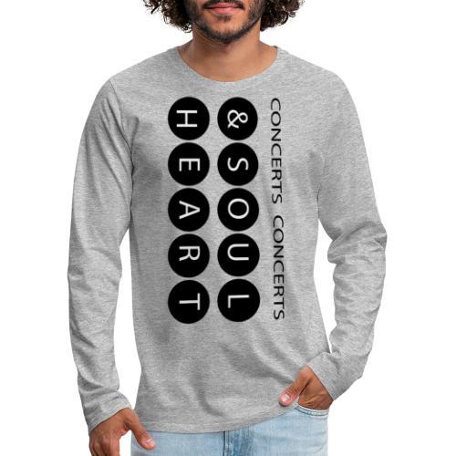 Heart & Soul concerts text design 2021 flip - Men's Premium Long Sleeve T-Shirt