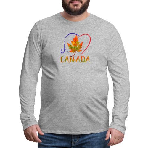 J'AIME LE CANADA - T-shirt Premium à manches longues pour hommes