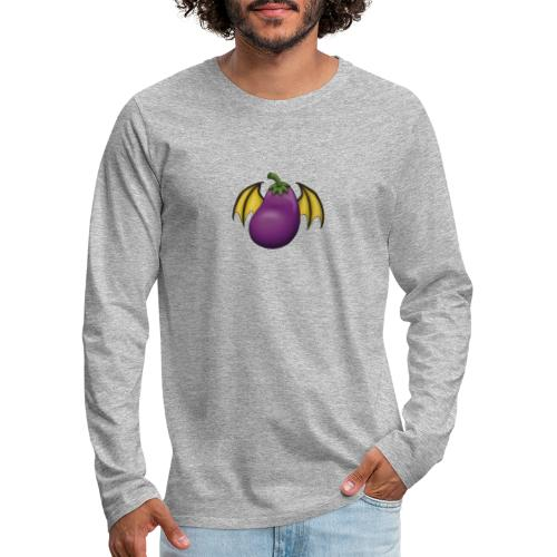 Eggplant Logo - Men's Premium Long Sleeve T-Shirt