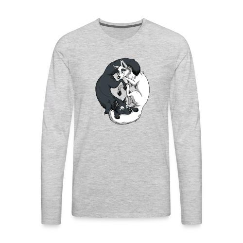 Yin Yang Foxes - Men's Premium Long Sleeve T-Shirt